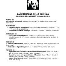 Settimana della scienza