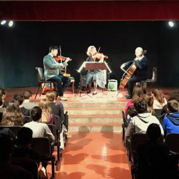 Lezione concerto per le classi prime con il Trio Folk di Santa Cecilia